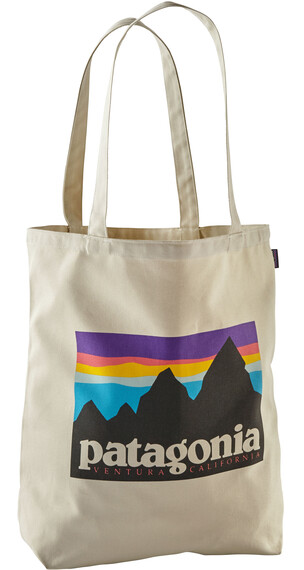 Patagonia Canvas Bag Shop Sticker: Bleached Stone